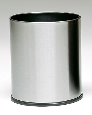 Witt Monarch 4 Gallon Waste Basket; Stainless