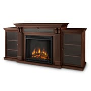 Real Flame Cali 67'' TV Stand w/ Electric Fireplace; Dark Espresso