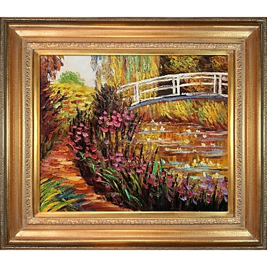 Tori Home The Japanese Bridge by Claude Monet Framed Painting