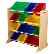 KidKraft Sort It and Store It 4 Compartment Cubby; Natural