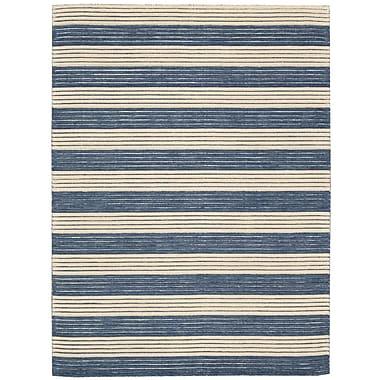 Barclay Butera Ripple Midnight Blue Area Rug; 5'6'' x 7'5''