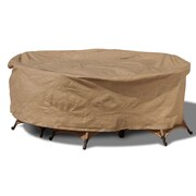 BudgeIndustries Chelsea Round Patio Table and Chairs Combo Cover; 88'' W x 88'' D