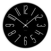 JONSSON Timeware Artus 11.75'' Wall Clock; Black/Satin White Steel