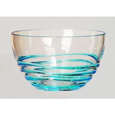 LeadingWare Group, Inc 26.7 oz. Swirl Small Salad Bowl (Set of 4); Blue