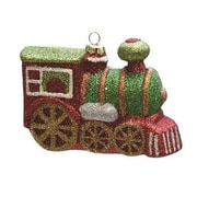 Northlight Merry and Bright Glitter Drenched Shatterproof Christmas Train Ornament