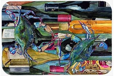 Caroline's Treasures Crabby We Bottles Kitchen/Bath Mat; 24'' H x 36'' W x 0.25'' D