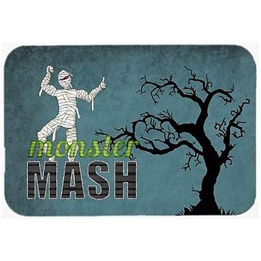 Caroline's Treasures Monster Mash w/ Mummy Halloween Kitchen/Bath Mat; 24'' H x 36'' W x 0.25'' D