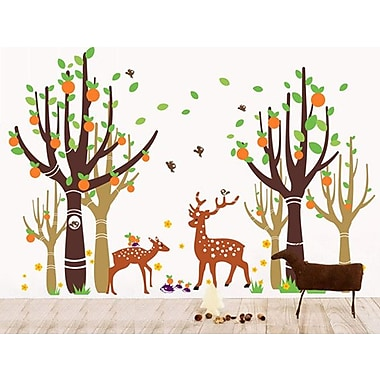 Pop Decors Tree Forest w/ Deer Wall Decal