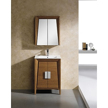 Fine Fixtures Imperial II 23.63'' x 27.13'' Surface Mount Medicine Cabinet; Wheat