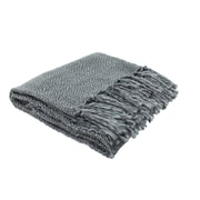 J&M Home Fashions Luxury Weave Throw; Dark Gray