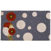 Rubber-Cal, Inc. Rouge Contemporary Floral Doormat
