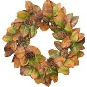 Floral Home Decor 2 Piece Designer Magnolia Wreath and Garland Set