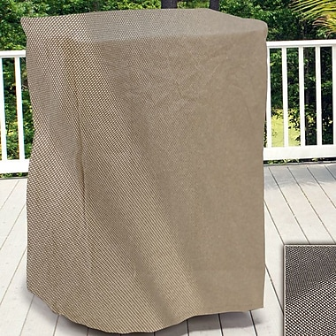 BudgeIndustries English Garden Square Outdoor Side Table/Ottoman Cover; 16'' H x 28'' W x 28'' D