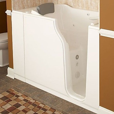 American Standard 51.5'' x 29.75'' Gelcoat Right Hand Walk-In Combo; Linen