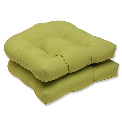 Pillow Perfect Fresco Outdoor Dining Chair Cushion (Set of 2); Fresco Green