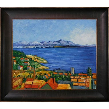 Tori Home The Bay of Marseilles by Paul Cezanne Framed Painting