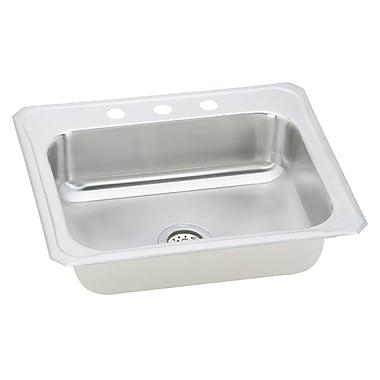 Elkay Gourmet 25'' x 22'' x 7'' Top Mount Kitchen Sink; 3 Hole