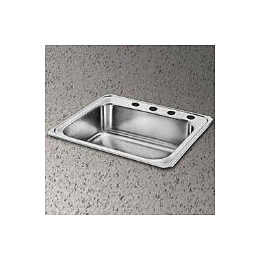 Elkay Gourmet 25'' x 22'' x 7'' Top Mount Kitchen Sink; 4 Hole