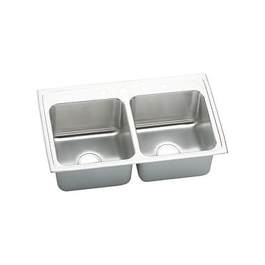 Elkay Gourmet 33'' x 19.5'' x 10.13'' Top Mount Kitchen Sink; 4 Hole