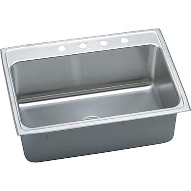 Elkay Gourmet 31'' x 22'' x 10.13'' Top Mount Kitchen Sink; 4 Hole