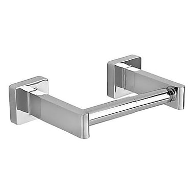 American Standard Modern Concealed Mounted Square Toilet Paper Holder; Chrome