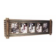 Wilco Home Smokey Cabin Corrugated Tin w/ Wood Wall Picture Frame
