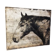 Wilco Home Smokey Cabin 'Horse Profile in Sepia' Painting Print