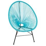 PoliVaz Acapulco Wire Basket Lounge Chair Indoor/Outdoor Stackable; Blue