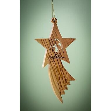 EarthwoodLLC Olive Wood Shooting Star Ornament