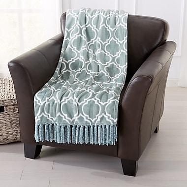 Home Fashion Designs Orleans Ultra Velvet Plush Super Soft Printed Blanket; Blue Surf