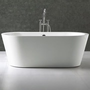 Kube Bath Ovale 66.25'' x 31.63'' Soaking Bathtub