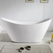 Kube Bath Luna 68'' x 28.75'' Soaking Bathtub