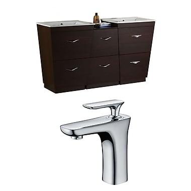 American Imaginations Vee 67.5'' Double Bathroom Vanity Set