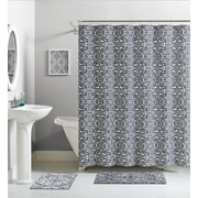 Ruthy's Textile Cotton Shower Curtain; Gray