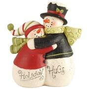 Blossom Bucket 'Holiday Hugs' Hugging Snowmen Couple