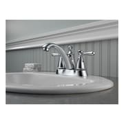 Peerless Faucets Standard Centerset Bathroom Faucet Double Handle w/ Drain Assembly