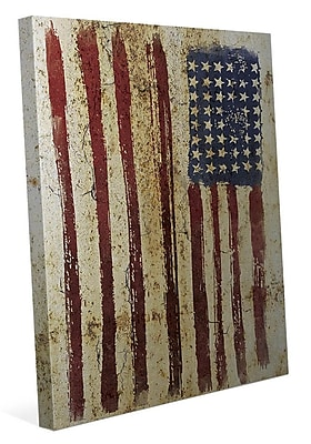 Click Wall Art 'Distressed Flag' Graphic Art on Wrapped Canvas; 36'' H x 24'' W x 1.5'' D