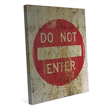 Click Wall Art 'Do Not Enter Weathered' Graphic Art on Wrapped Canvas; 10'' H x 8'' W x 0.75'' D