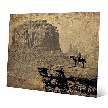 Click Wall Art 'Western Mountains' Graphic Art; 11'' H x 14'' W x 0.04'' D