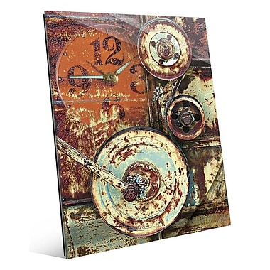 Click Wall Art 'Industrial Wheels' Graphic Art; 10'' H x 8'' W x 1'' D