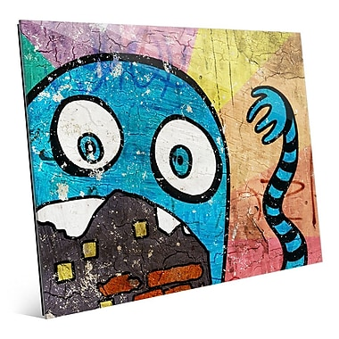 Click Wall Art 'Hungry Monster Cerulean' Graphic Art; 8'' H x 10'' W x 1'' D