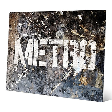 Click Wall Art 'Industrial Metro Glaucous ' Graphic Art; 20'' H x 30'' W x 0.04'' D