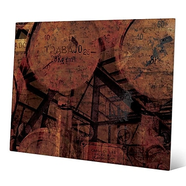 Click Wall Art 'Industrial Scales' Graphic Art; 16'' H x 20'' W x 0.04'' D