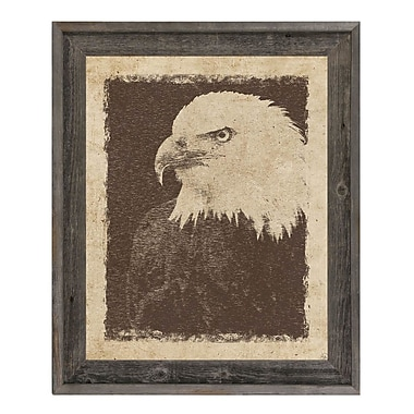 Click Wall Art 'Vintage Eagle' Framed Graphic Art; 17.5'' H x 14.5'' W x 1'' D