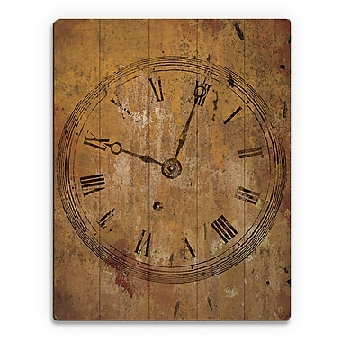 Click Wall Art 'Tick Tock' Graphic Art on Plaque; 24'' H x 20'' W x 1'' D