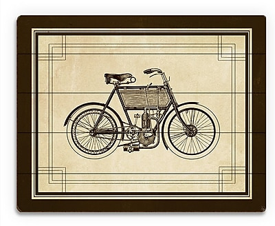Click Wall Art 'Vintage Bike' Graphic Art on Plaque; 20'' H x 30'' W x 1'' D