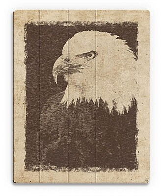 Click Wall Art 'Vintage Eagle' Graphic Art on Plaque; 30'' H x 20'' W x 1'' D