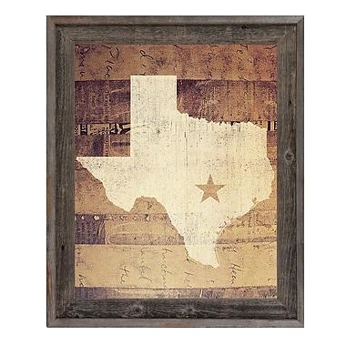 Click Wall Art 'Texas Rustic' Framed Graphic Art; 17.5'' H x 14.5'' W x 1'' D