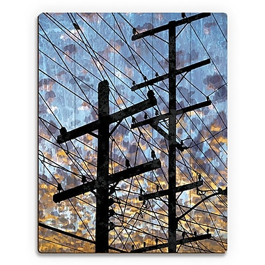 Click Wall Art 'Electric Link' Graphic Art on Plaque; 24'' H x 20'' W x 1'' D