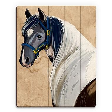 Click Wall Art 'Horse Portrait' Painting Print on Plaque; 20'' H x 16'' W x 1'' D
